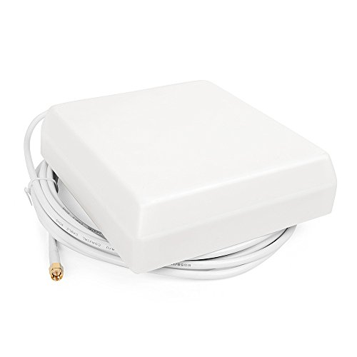 Indoor Cellular Multiband Panel Antenna for 4G LTE Cellphone signal Booster and Repeaters with 5m White Cable SMA-male Connector by ANYCALL