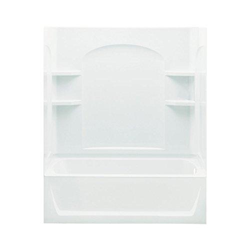 Sterling Plumbing 71220128-0 Ensemble AFD Bath Tub and Shower Kit, 60-Inch x 32-Inch x 76-Inch, White 0 Ensemble