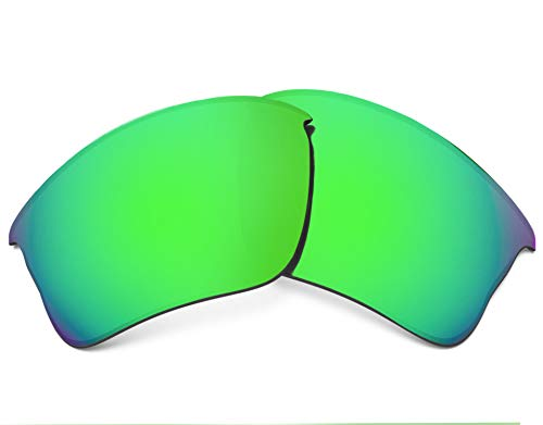 Replacement Lenses Compatible with OAKLEY Flak Jacket XLJ Polarized Green Mirror ()