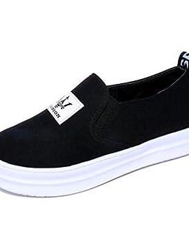 ZQ Zapatos de mujer-Plataforma-Creepers-Mocasines-Exterior / Casual-Tela