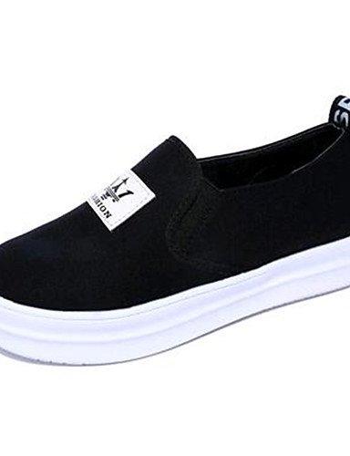 exterior De Zapatos Eu35 plataforma Cn34 Uk3 Eu40 tela negro Mujer White Zq Uk7 creepers Cn41 Casual mocasines White Blanco us9 us5 5YwfBdqx