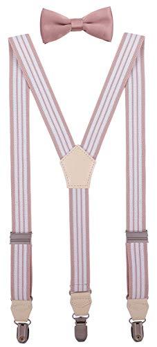 CEAJOO Mens' Bow Tie and Suspenders Set Adjustable Y Back 47