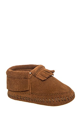 Minnetonka Infant-Girls' Riley Moccasin Booties Brown 3 M - Kids Minnetonka