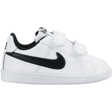 size 40 0dad4 6a8ce Nike Court Royale (TDV), Baskets Basses Bébé Garçon, Weiß (Weiß  (Weiß Schwarz)), 18.5 EU  Amazon.fr  Chaussures et Sacs