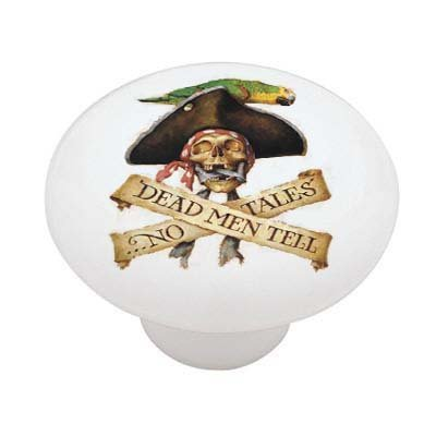 (Pirates ~ Dead Men Tell No Tales ~ Ceramic Drawer Knob)