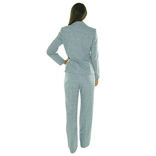 Evan Picone Womens Classic Time 2pc Three Button Pant Suit High