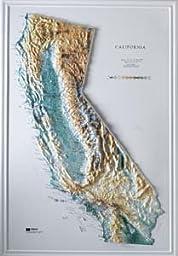 Hubbard Scientific Raised Relief Map 951 California State Map
