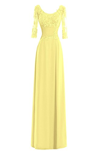 Length Bride Lace Women Bridal Mother The s Formal Chiffon Bess Dresses Floor Daffodil of 5B6WPn4P0