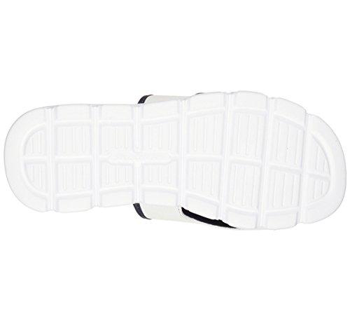 Bianco Vento Navy Swell Sandalo Skechers diapositive Sport Bianco vxq7S7