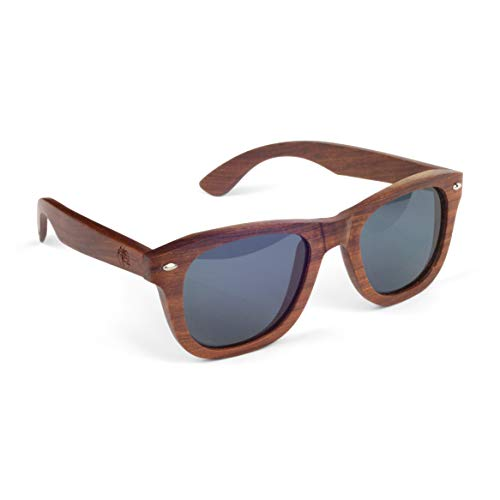 Real Sandalwood Sunglasses Wooden Wayfarer Design Polarized Lenses with Gift Box by Viable Harvest