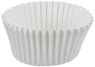 Cybrtrayd 250 Count No.4 Glassine Paper Candy Cups, White