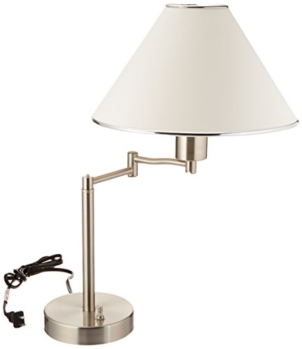 Boston Harbor Nickel Lighting - Boston Harbor TL-TB-8008-3L Swing Arm Adjustable Desk Lamp, 60 W, A19, 27.05, Satin Nickel