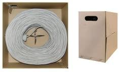 1000 ft Stranded QualConnectTM Bulk Shielded Cat5e Gray Ethernet Cable Pullbox