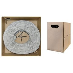 PcConnectTM CAT5E STP Grey Stranded 1000 feet Ethernet Cable Pull Box