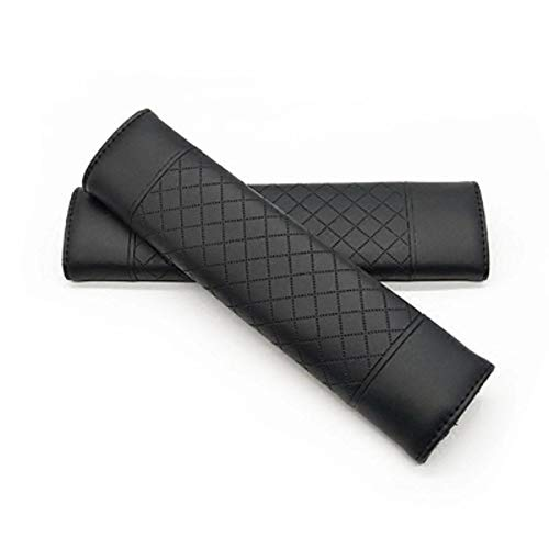 Vosarea Seatbelt Cover 2 PCS Car Seat Belt Covers Lambskin Soft Seat Shoulder Pad Seatbelt Strap Cover (Black)