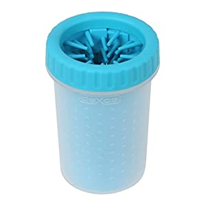 Dexas MudBuster Portable Dog Paw Cleaner, Medium, Blue 52