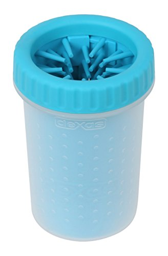 Dexas MudBuster Portable Dog Paw Cleaner, Medium, Blue