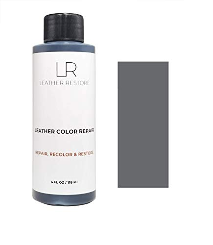 Leather Restore Leather Color Repair, Dark Gray 4 OZ - Repair, Recolor and Restore Couch, Furniture, Auto Interior, Car Seats, Vinyl and - Car Leather Dye
