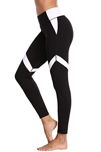 CharmLeaks Women's High Waisted Yoga Pants Tummy Control Running Tights Leggings