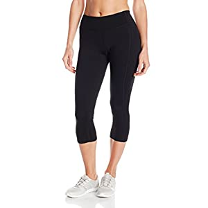 Hanes Women's Sport Performance Capri Legging, Ebony, Large