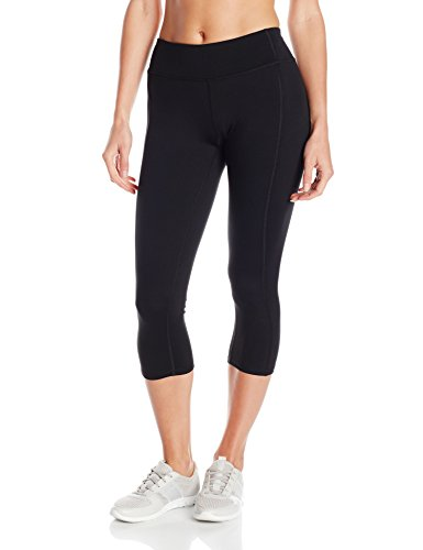 Hanes Women's Sport Performance Capri Legging, Ebony, Large (Black Capris Hanes)