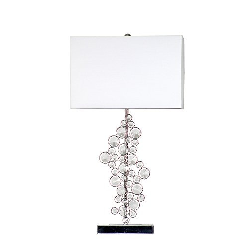 - Elegant Designs LT1027-CHR Sequin and Chrome Table Lamp with Prismatic Crystals