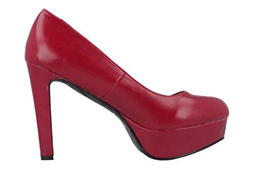 ANDRES MACHADO - Damen Pumps - Rot Schuhe in Übergrößen