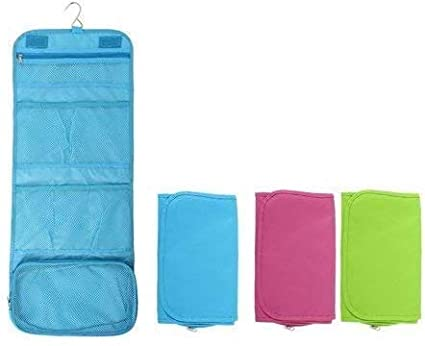 EKRON Multicolor Polyester 1 PC Toiletry Bag Travel Kits   Organizers
