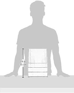 Transparent DIN A4 8x taymar Tisch-Prospektst/änder 4 Etagen