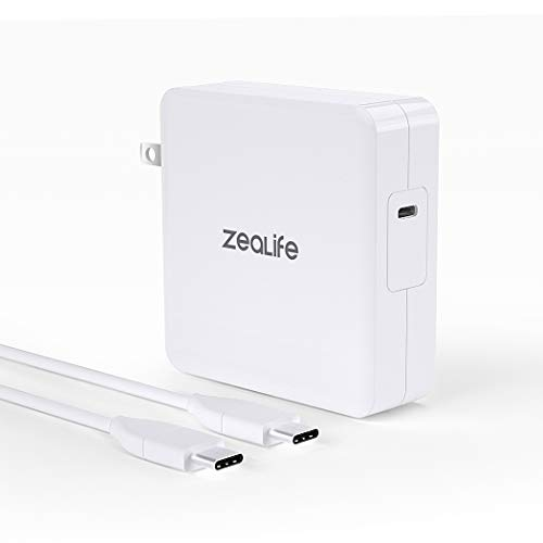 87W USB C Power Adapter Charger, ZeaLife USB C PD Wall Charger Brick for MacBook Pro, Compatible with Thunderbolt Charger Port MacBook Pro 15-inch 2019, 2018, 2017, 2016 (UL Listed)