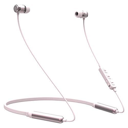 SoundMAGIC E11BT Wireless Hi-Fi Stereo Headphones with Mic, Bluetooth Sports Neckband Earbuds, IPX5 Waterproof, 48Hrs…