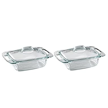 Pyrex Easy Grab 2 quart casserole with glass cover (Pack Of 2)