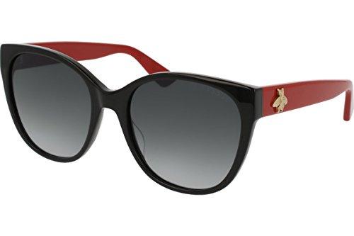 Gucci GG 0097 S- 005 005 BLACK / GREY / RED - Sunglasses Gg0036s Gucci