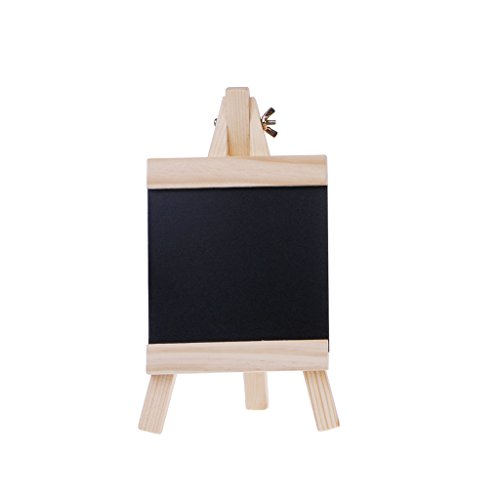 Yangxiyan Wood Framed Desktop Message Blackboard Easel Chalkboard,Collapsible Kids Writing Boards (S)