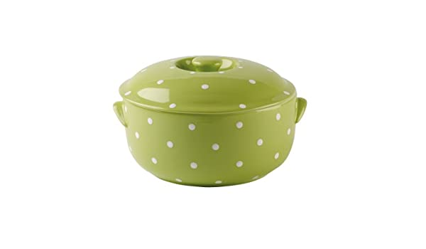 Amazon.com: Spode Baking Days Green Round Covered Deep Dish Bake and ...