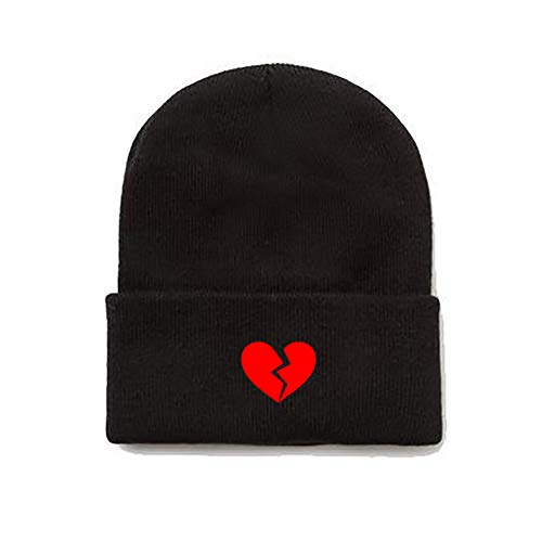 Modern Hats and Shirts Broken Heart Beanie - Black