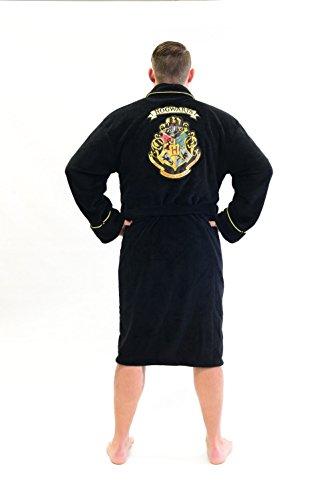 [Harry Potter Hogwarts Crest Fleece Costume Robe Bathrobe] (Hogwarts Robe Costumes)