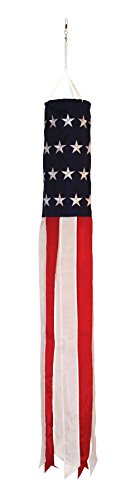 In the Breeze Stars and Stripes Embroidered Value Windsock Flag, 50'' by In the Breeze