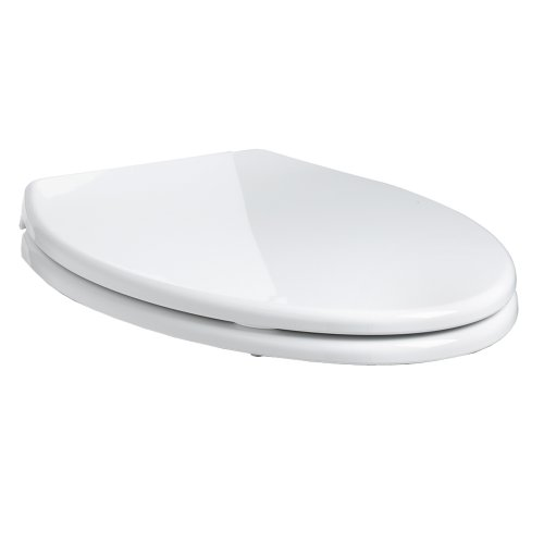 American Standard 5283.110.020 Cadet Elongated Front Slow Close Easy Lift Toilet Seat, White by American Standard