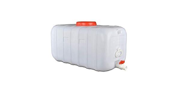 25-150L GMSX Tanque De Agua con Grifo Contenedor De Almacenamiento De Agua De Pl/ástico Grueso Cubo De Agua Port/átil Al Aire Libre Barril De Vino Barril Qu/ímico Industrial Blanco