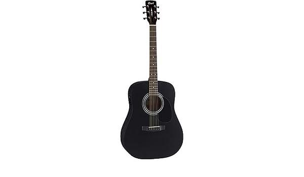 Cort ad810e guitarra acústica Negro satinado: Amazon.es: Instrumentos musicales