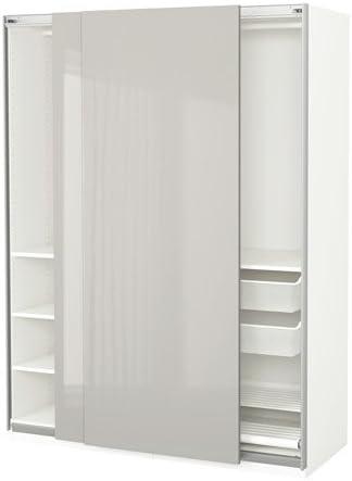 Armario Ikea, blanco, Hasvik gris claro, 59x26x79 1/4