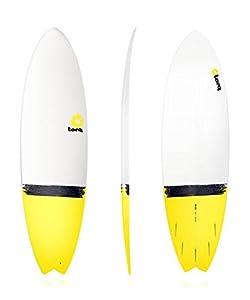 Surfboard TORQ Epoxy 6.6 Fish Yellow Tail