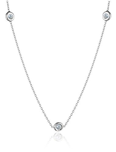 Roberto Coin Tiny Treasures 18k White Gold 7-Station Diamond Station Necklace (1/3cttw, G-H Color, SI1 Clarity), 16
