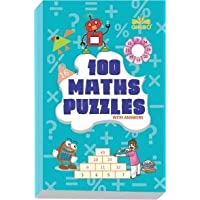 GIKSO 100 Maths Puzzles Book - Brain Boosting Mathematical Activities for Age 7+ Years Old Kids | Game Book