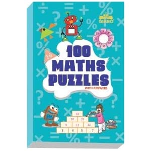 GIKSO 100 Maths Puzzles Book – Brain Boosting Mathematical Activities for Age 7+ Years Old Kids | Game Book (English)