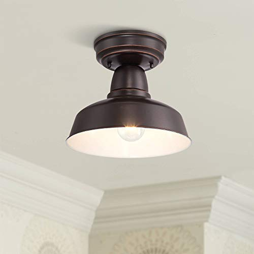 Urban Barn Rustic Farmhouse Outdoor Ceiling Light Fixture Oil Rubbed Bronze Metal 10 1/4