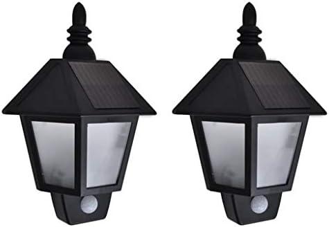 Festnight 2 Unidades Lámparas de Pared con Sensor Movimiento Negras, Lámparas Jardín/Exterior para Jardines, Casas, Patios, Caminos, Calzadas: Amazon.es: Hogar