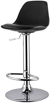 Sgabello da Bar con Schienale e Altezza Regolabile per tavolino da Barba Adatto per Sala da Pranzo e Cucina Nimara Adam