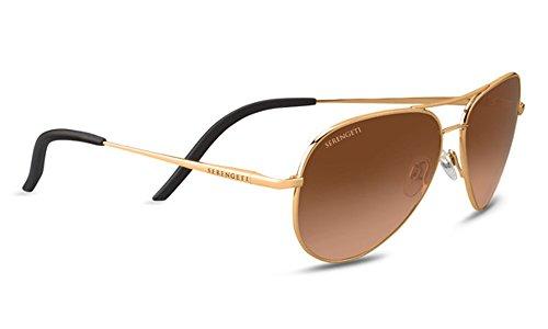 Serengeti Eyewear Sunglasses Carrara Small Shiny Bold Gold D